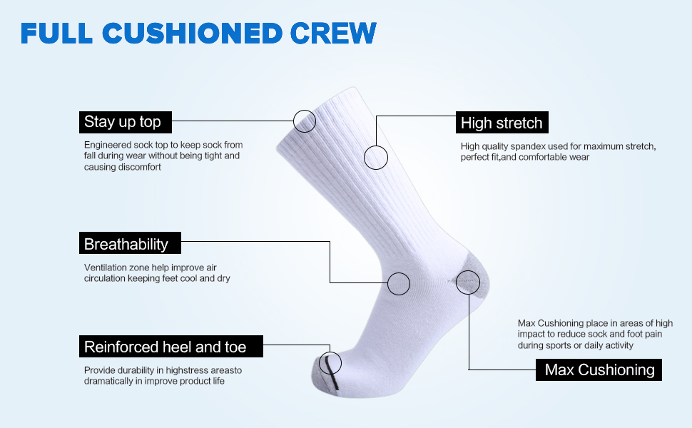 white cushion work socks