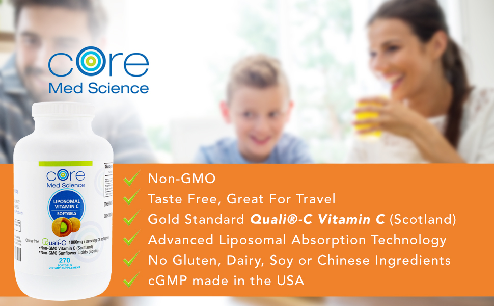 core med science liposomal vitamin c softgels iron absorption scientific vit supplement lypospheric