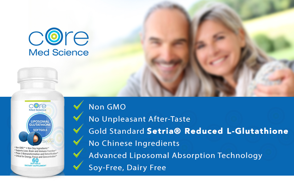 liposomal glutathione core med science IV For Life Setria Reduced Glutathione China-Free Pure Force