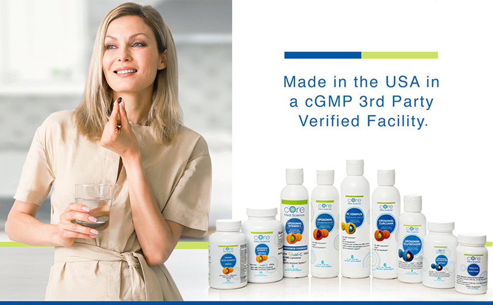 Core Med Science IV For Life made in the USA cGMP no Chinese ingredients soy-free sunflower non-GMO
