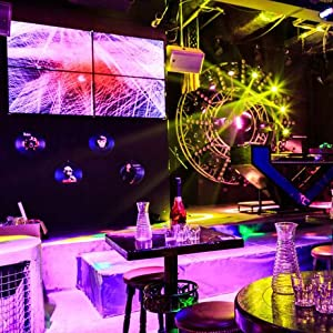 Flashandfocus.com 055678ad-4b48-41da-9b64-ca67e010408c._CR0,0,439,439_PT0_SX300__ LED UP Lights, Nurxiovo Par Lights 18x1W DMX Stage Lights LED RGB Lighting with Sound Control 7 Channel for DJ, Party…