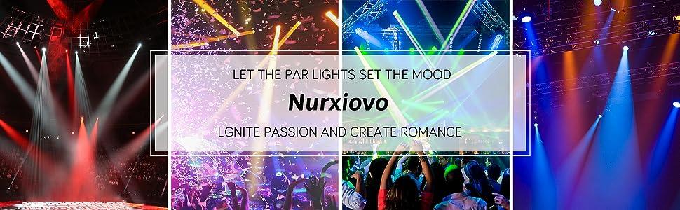 Flashandfocus.com 86657fcc-0729-4deb-a105-b11cf921109e._CR0,0,1940,600_PT0_SX970__ LED UP Lights, Nurxiovo Par Lights 18x1W DMX Stage Lights LED RGB Lighting with Sound Control 7 Channel for DJ, Party…