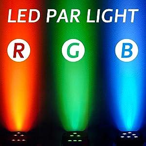 Flashandfocus.com e6b35aba-4480-4872-b58b-fc62334fed8d._CR0,0,1600,1600_PT0_SX300__ LED UP Lights, Nurxiovo Par Lights 18x1W DMX Stage Lights LED RGB Lighting with Sound Control 7 Channel for DJ, Party…