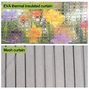 EVA curtain and mesh curatin