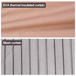 Door curtain compare