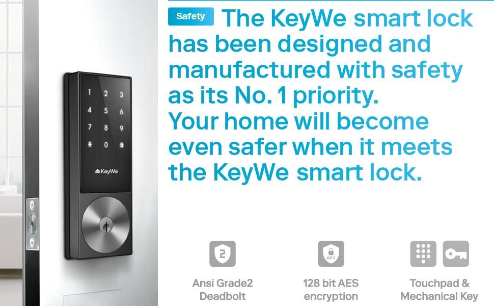 keywe, doorlock, safety