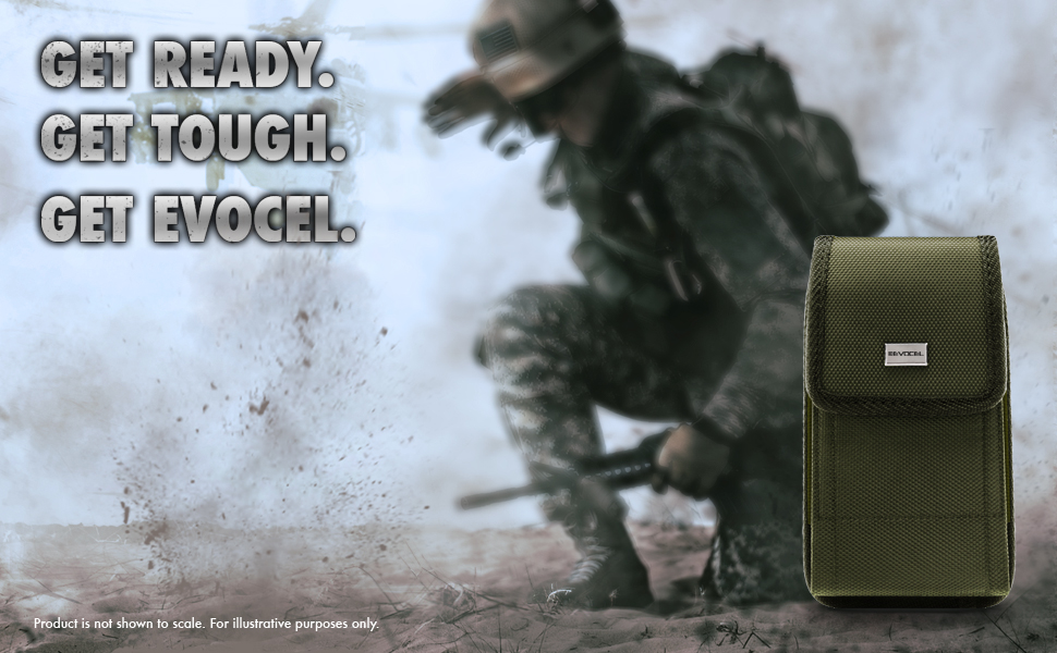 Universal Phone Pouch Case (OD) Olive Drab Military Green - Evocel - Urban Pouch Tactical Carrier