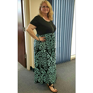 84e729160e91b Nemidor Women s Chevron Print Summer Short Sleeve Plus Size Casual Maxi  Dress