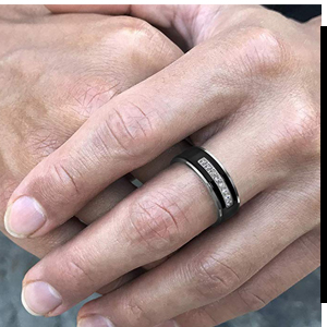 his and hers black wedding ring sets