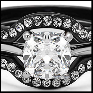 cz wedding rings for men and women