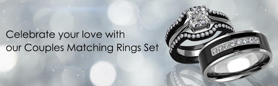 Black Couple engagement rings