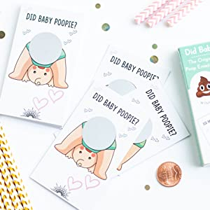 30 COTIER Baby Shower Scratch Off Game - Emoji Lottery