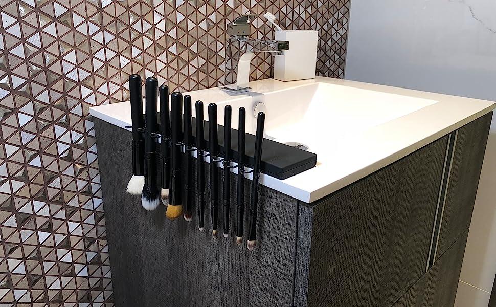 brush bar makeup brush drying rack