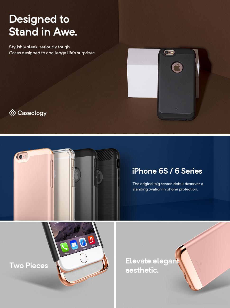 Amazon.com: iPhone 6S Case, Caseology [Savoy Series] Chrome ...