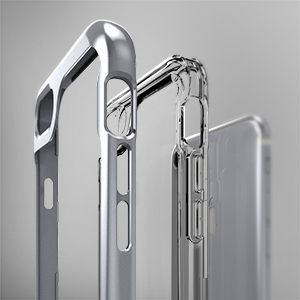 ae7116364 Capa Case Iphone 7 Plus Ultra Leve Silicone Antiqueda Sky WB Prata ...