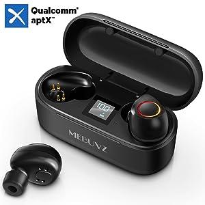 MEBUYZ True Wireless Earbuds Bluetooth 5.0 Earbuds Waterproof Sports Headphone Earpiece Earphone
