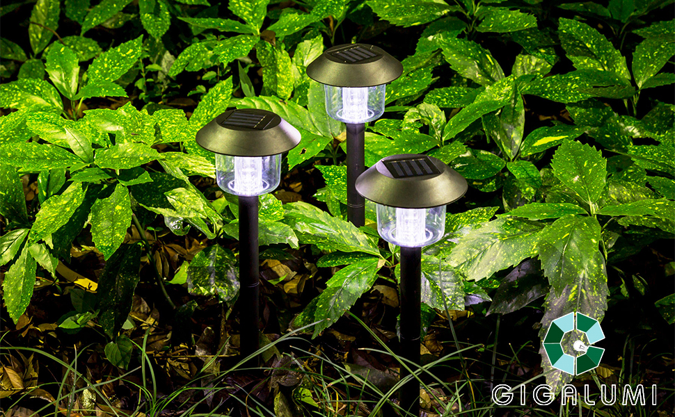 gigalumi solar pathway lights 6pack - Solar Pathway Lights