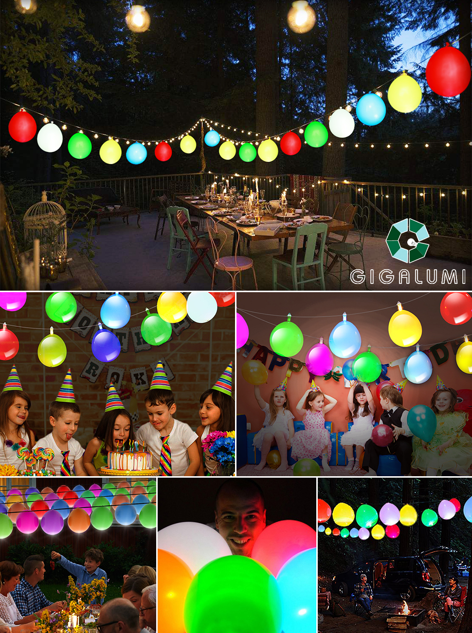 GIGALUMI Balloon string with LED Light a beautiful scenery line for your home.  sc 1 st  Amazon.com & Amazon.com: LED Light Up Balloons String Lights Premium Mixed ...