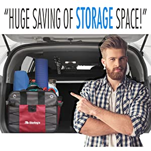 car trunk organizer for SUV grocery tote automotive truck bed organizers storage cargo containers