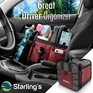 front seat organizer car trunk organizer for SUV grocery tote back seat auto vehicle accessories