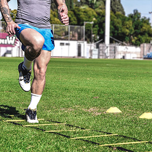Agility Ladder Drills for Soccer, Football, Sports Training Ladder