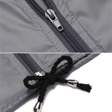 Drawstring hooded and hem,Waterproof zipper