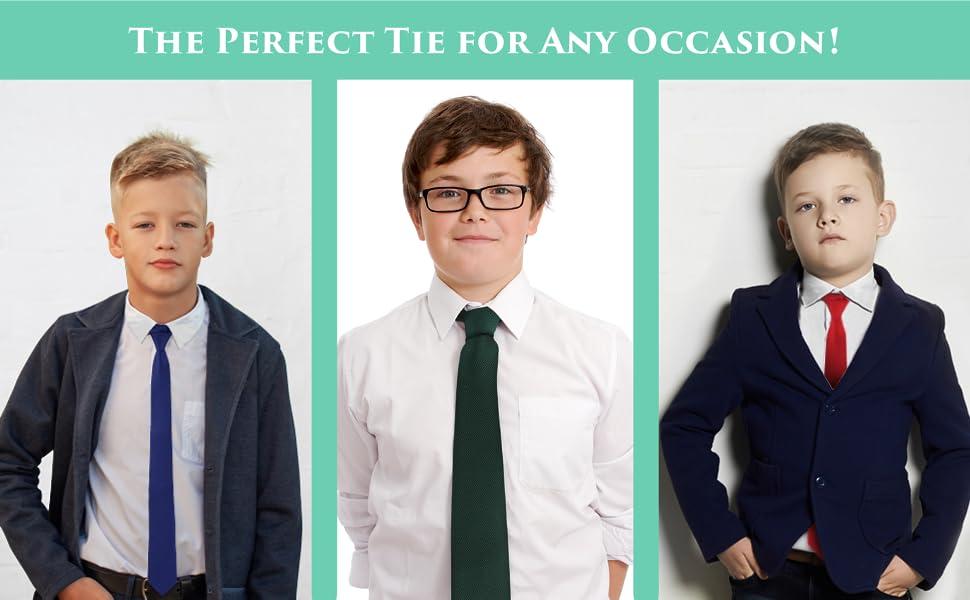For Kids Wedding Graduation Handmade Clip On Ties For Boys Woven Boys Red Ties
