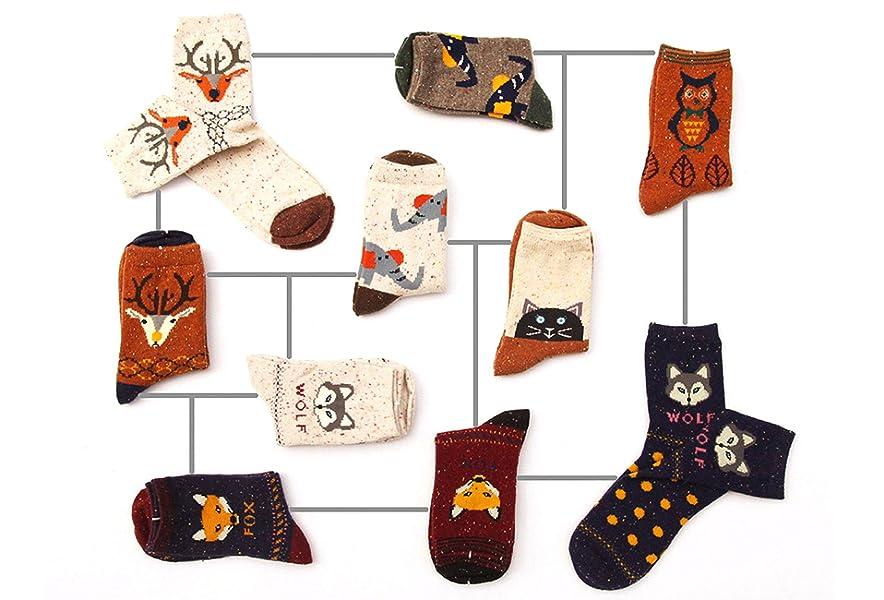 Warm Cute Elephant Animal Autumn Winter Socks Thick Cartoon Women Wool Socks