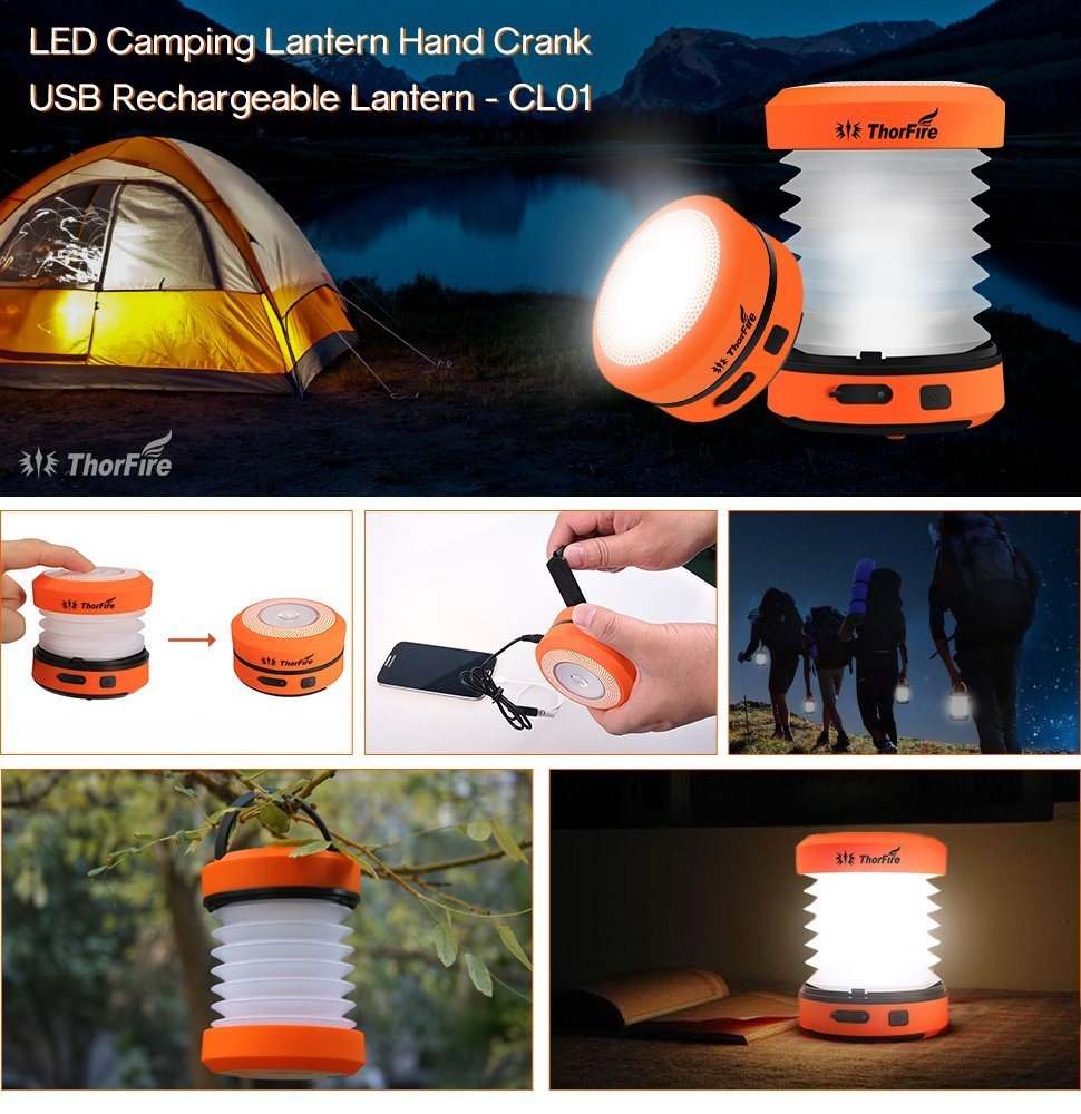 Lightweight And Collapsible Design Makes The ThorFire CL01 Camping Lantern  Extremely Easy To Carry. Travel With It! Expand It, Itu0027s A LED Lantern;  Fold It, ...