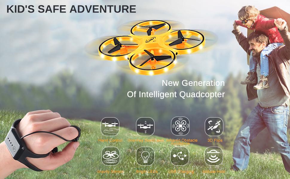 Mini Drone RC Quadcopter for Kids