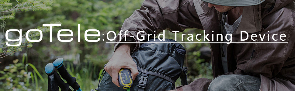 goTele GPS Tracker, No Monthly Fee No Network Required Mini Portable  Off-grid Real Time GPS Tracking Device for Outdoor Hiking, Hunting, Kids  and Pets