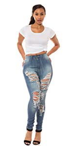 ap blue aphrodite skinny jeans high waisted basic mid rise high rise distressed ripped hand sanding