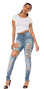 ap blue aphrodite skinny jeans high waisted basic mid rise high rise distressed ripped destroyed