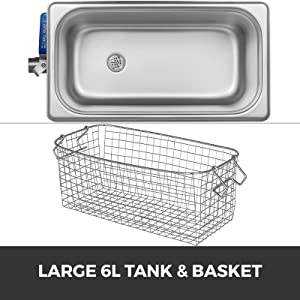 Large 6L Tank & Basket