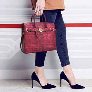448cd2bfc890 STYLE 3- Croco Taller Style Handbag. SAME WITH style 2 but a little taller.