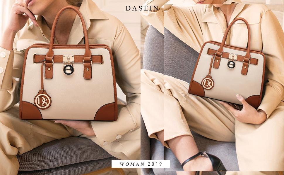 Amazon.com: DASEIN - Juego de 2 bolsos con asa superior para ...