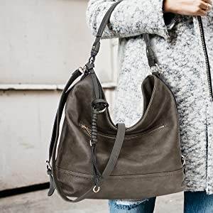 419feac49095 STYLE 2  3373 Series- One Handle Hobo Bag Shoulder Bag with with  Twisted Braided Wave Strand Deco