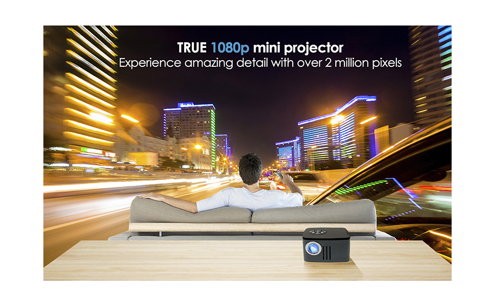 True 1080p mini projector