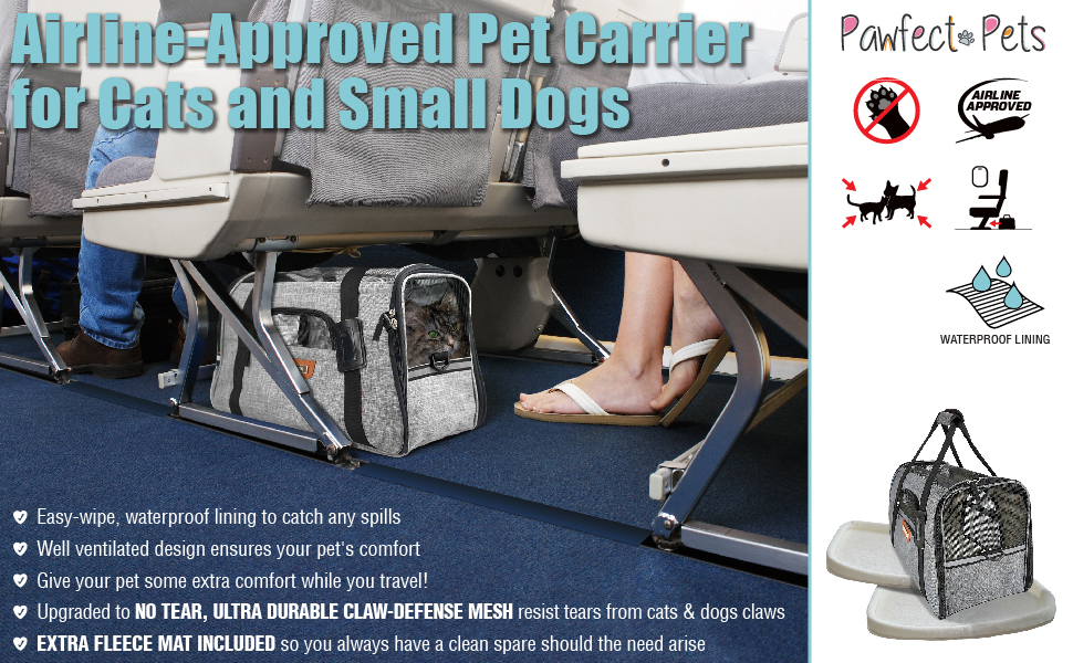 Amazon Com Premium Pet Travel Carrier Airline Approved