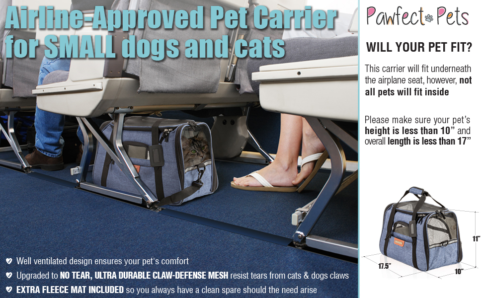Amazon Com Pawfect Pets Airline Approved Pet Carrier