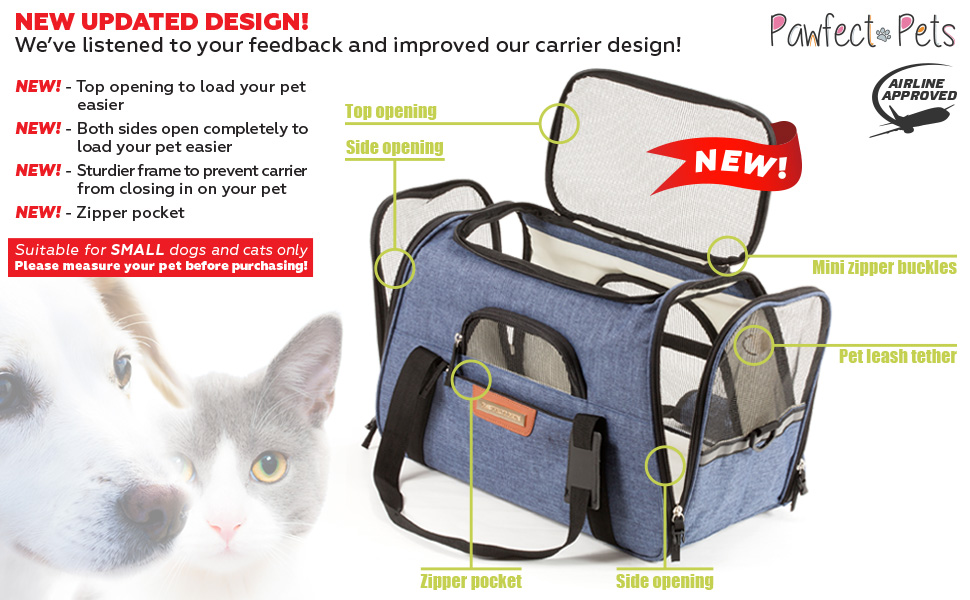 The Most DURABLE & SAFEST of the Travel Airline Approved Pet Carriers Fits Under Seat on Southwest, American, JetBlue, Delta, Virgin, Alaska, Frontier, ...