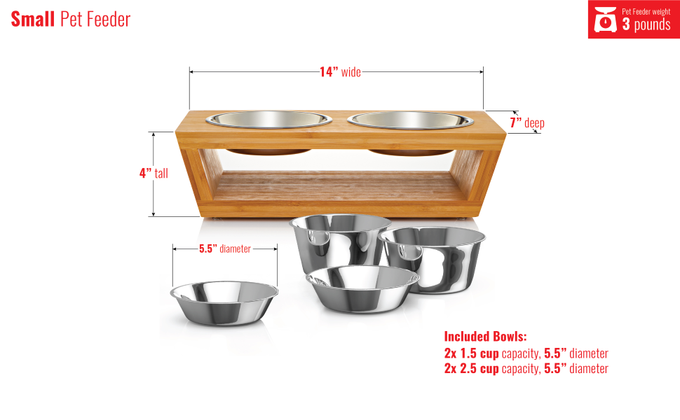 4 in tall pet feeder, cat bowl, dog bowl, stainless steel pet bowl, pet bowl stand