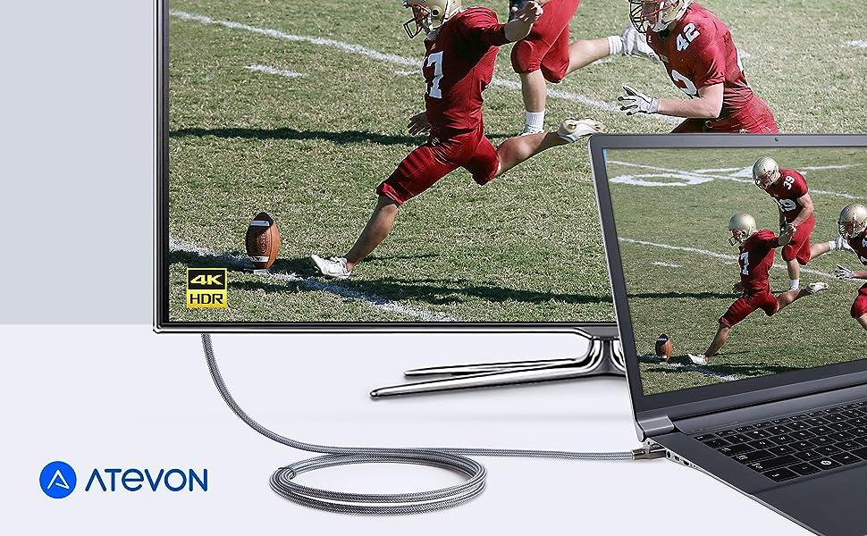 Atevon High-Speed HDMI Cable (4K@60Hz)