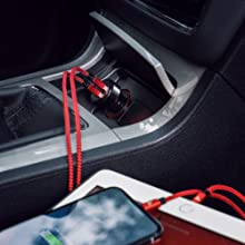 RAMPOW Car Charger, 24W/4.8A Dual USB Car Charger Compatible iPhone 11/XS/XR/X/8/7/6/5, iPad Pro/Air/Mini, Samsung Galaxy S10/S9/S8/S7, LG, HTC, Sony, ...