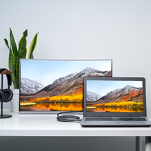 You can use the cable to link your laptop to the screen of your computer monitor.