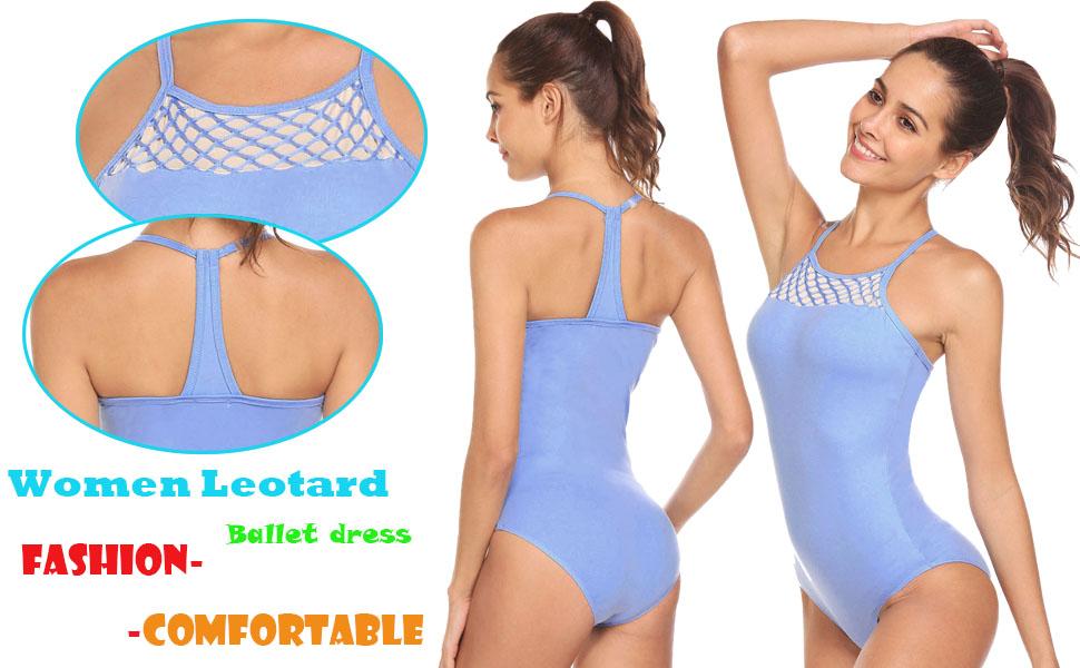 f68b42cd9 Amazon.com  Arshiner Women s Ballet Strap Dance Tank Leotard  Clothing