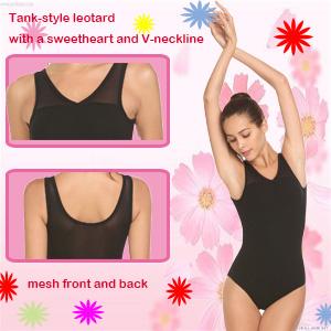 db3e003cc Amazon.com  Arshiner Women Tank Leotard Ballet Dance Sweetheart Mesh ...