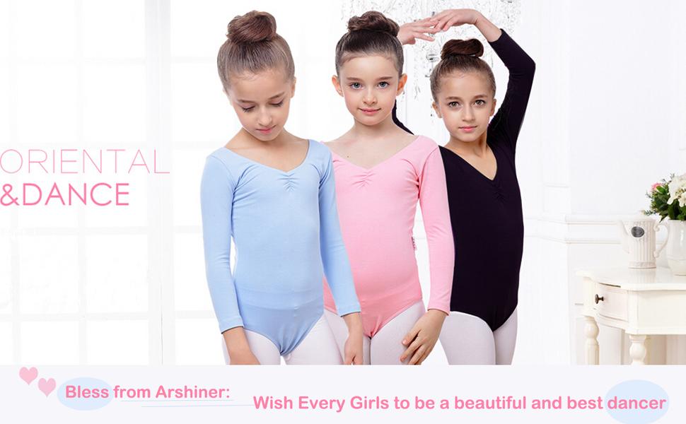 Arshiner Girls Classic Camisole Ballet Lace Leotard Dance Dress
