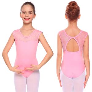 c9b3f160f0a0 Amazon.com: Arshiner Girls' Sleeveless Lace Dancewear Hollow Back ...