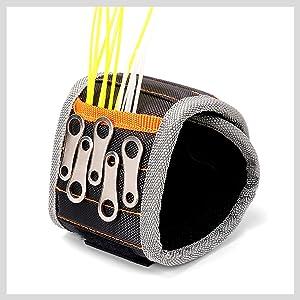 STAHLWERK pulsera magn/ética para tornillos piezas magn/éticas clavos brocas herramienta im/án fuerte artesano conjunto de 2